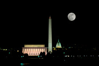 Moonrise over National Mall